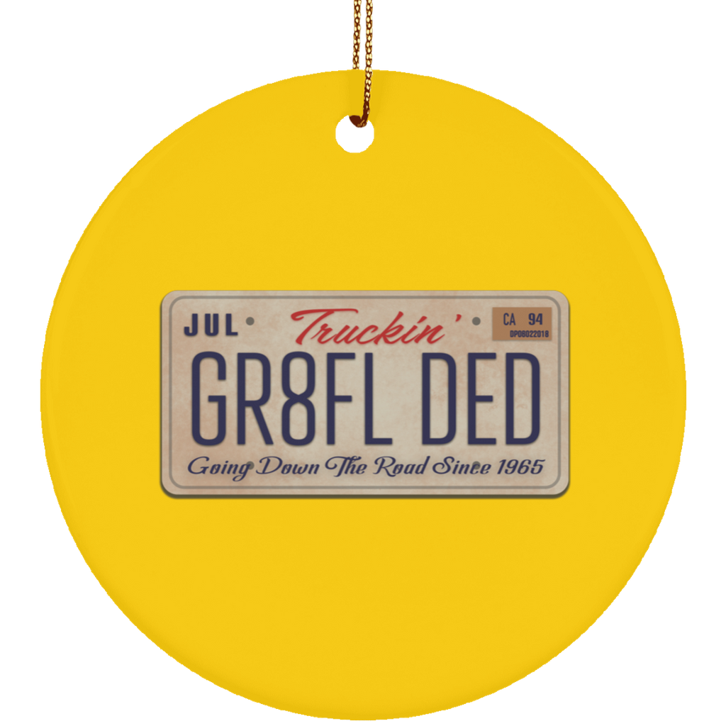 GR8FL DED Ceramic Circle Tree Ornament