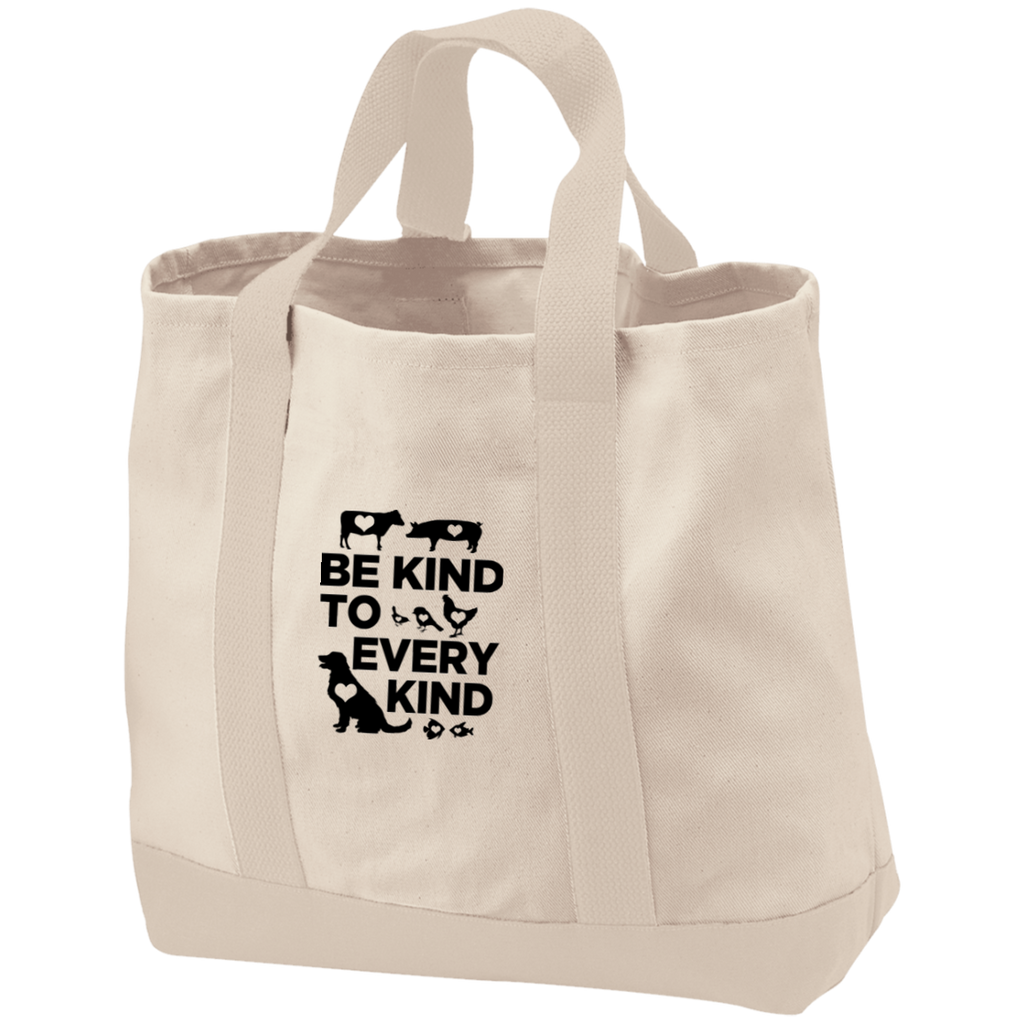 Be Kind To Every Kind 2-Tone Shopping Tote