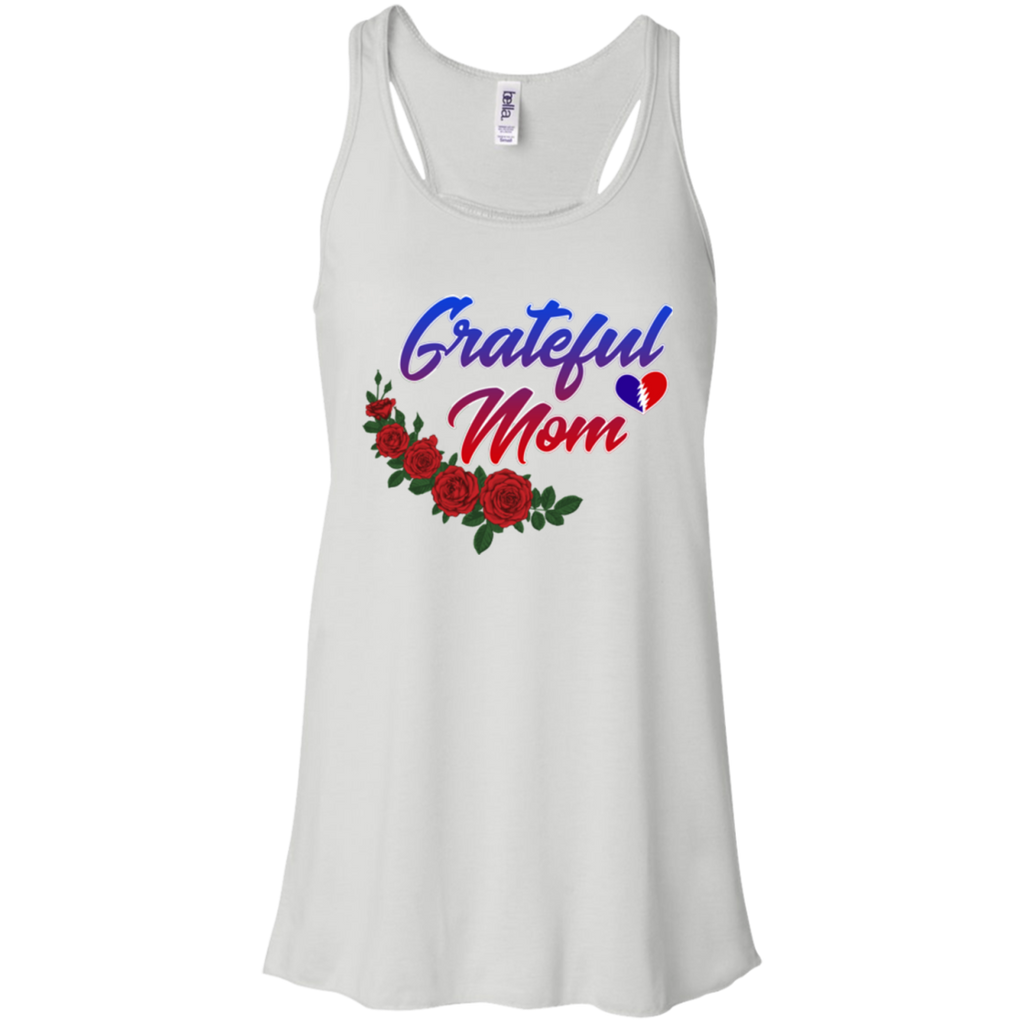Grateful Mom Roses Flowy Racerback Tank