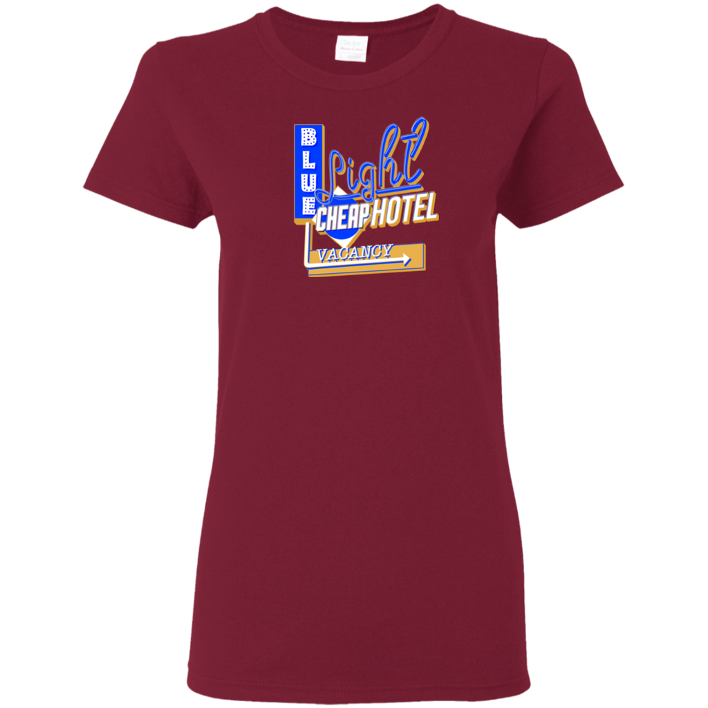 Blue Light Cheap Hotel Ladies T-Shirt
