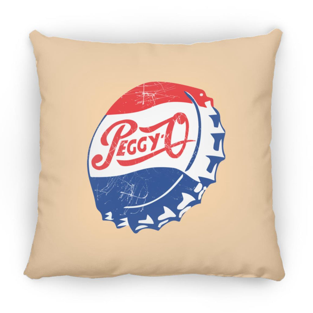 Peggy Bottle Cap Square Pillow 16 Inches