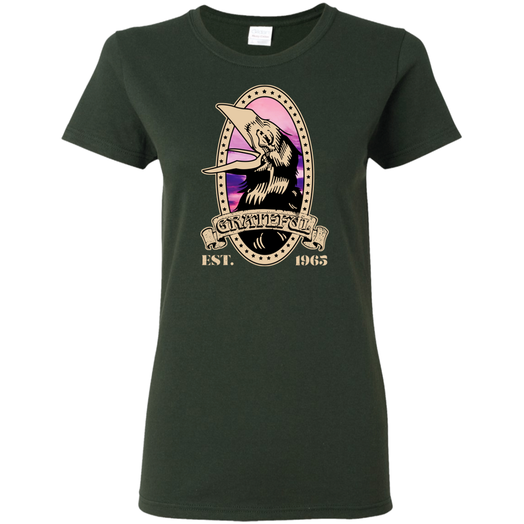 Grateful Crow 1965  Ladies T-Shirt