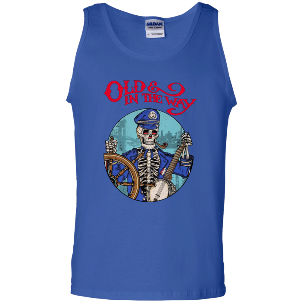 Old In The Way Skeleton 100% Cotton Tank Top