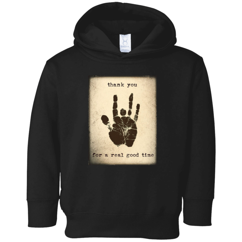 Thank You Good Time Toddler Fleece Hoodie