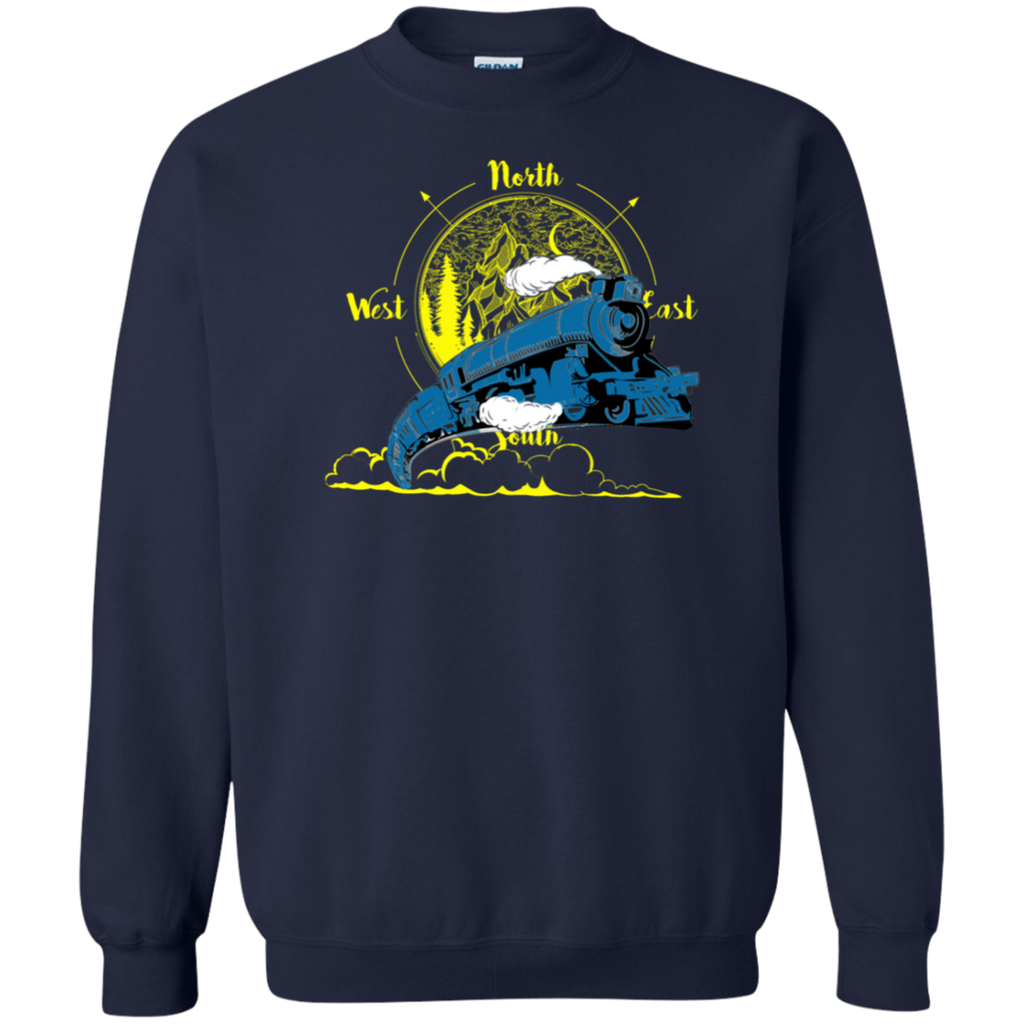 Northbound Train Pullover Sweatshirt  8 oz.