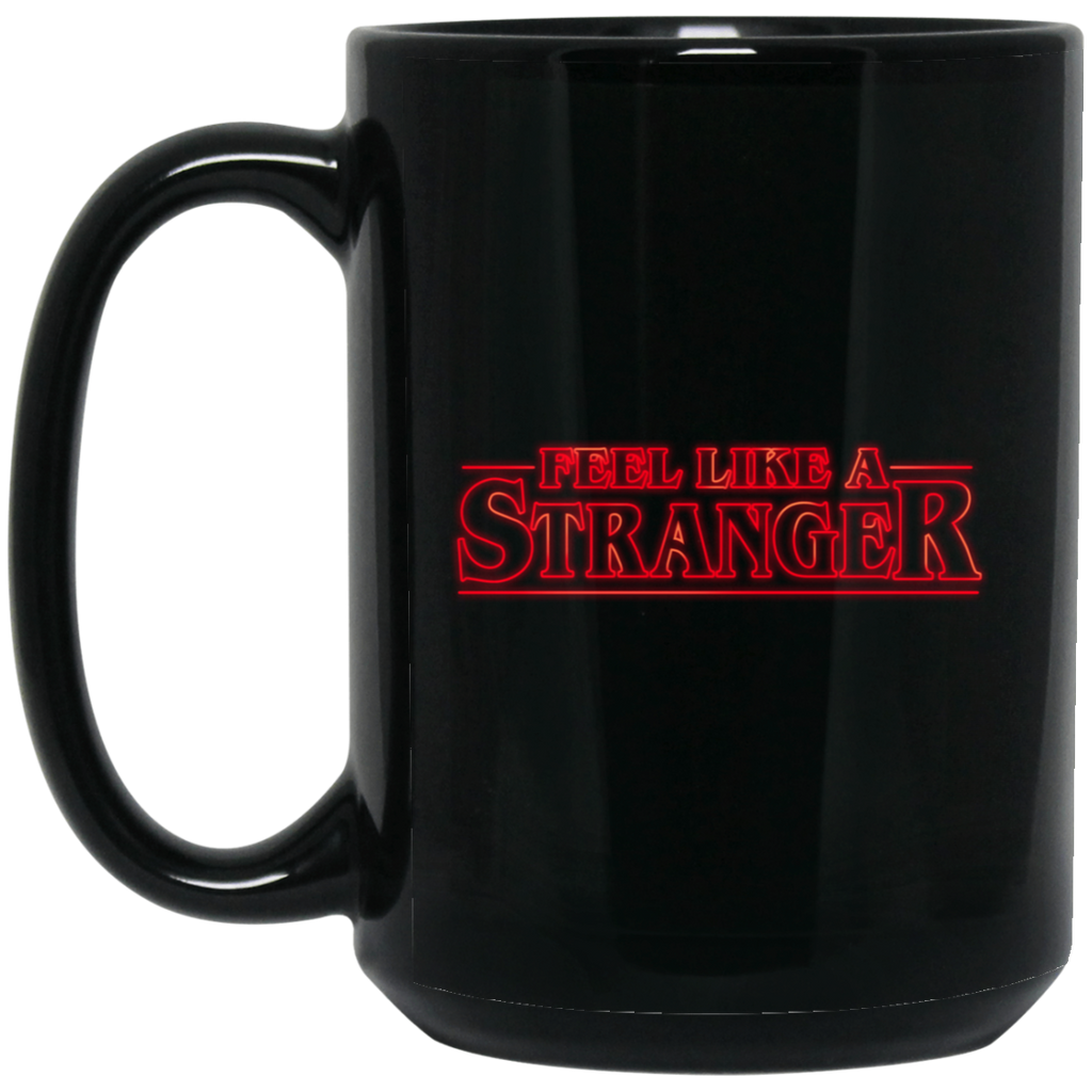 Feel Stranger Things 15 oz. Black Mug