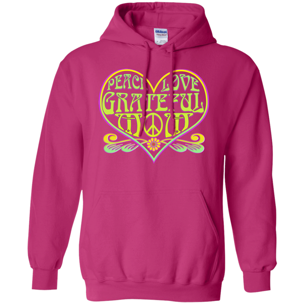 Peace Love Grateful Mom Pullover Hoodie
