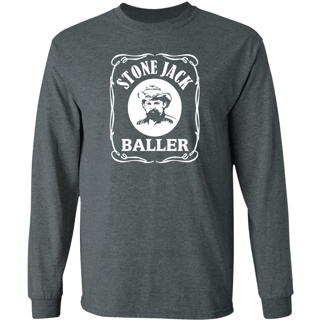Stone Jack Baller Square Long Sleeve Ultra Cotton T-Shirt