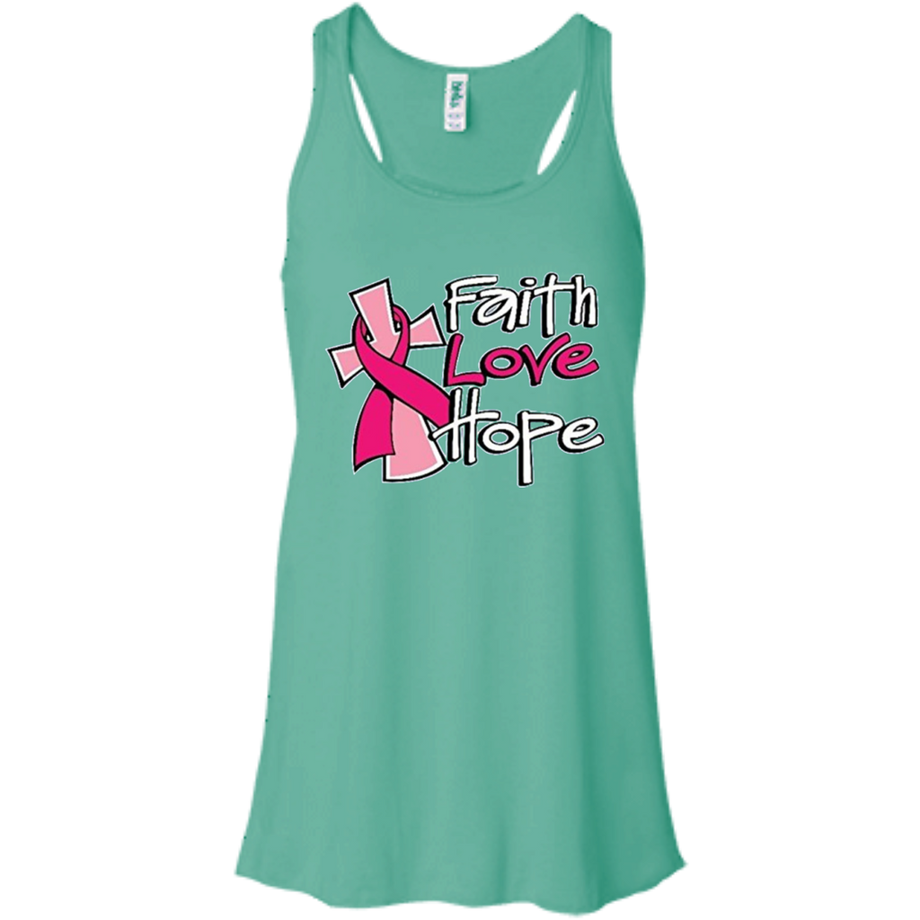 Faith Love Hope Flowy Racerback Tank