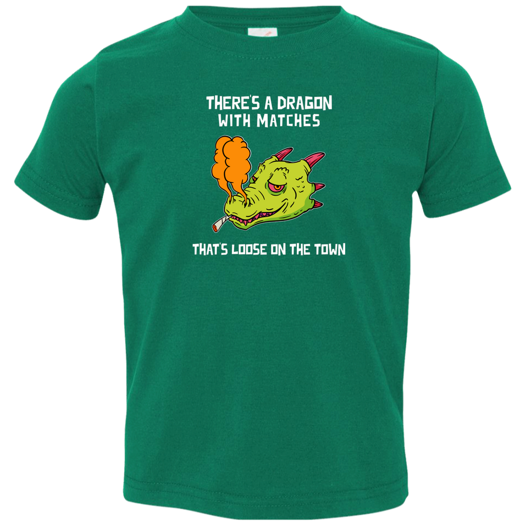 Dragon With Matches  Toddler Jersey T-Shirt