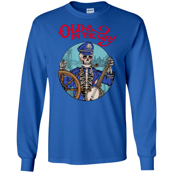 Overstock of Old In The Way Skeleton Long Sleeve Ultra Cotton T-Shirt LADIES Medium