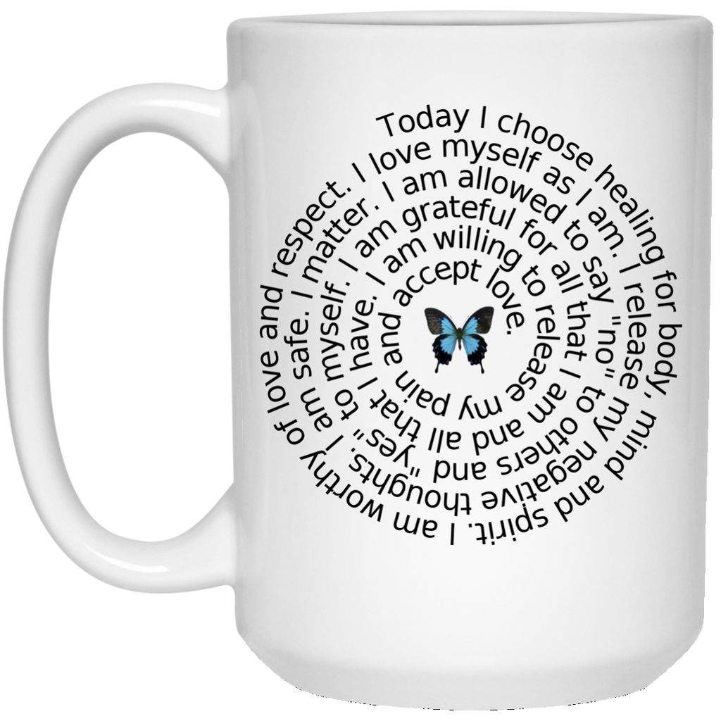 Positive Affirmations 15 oz. White Mug