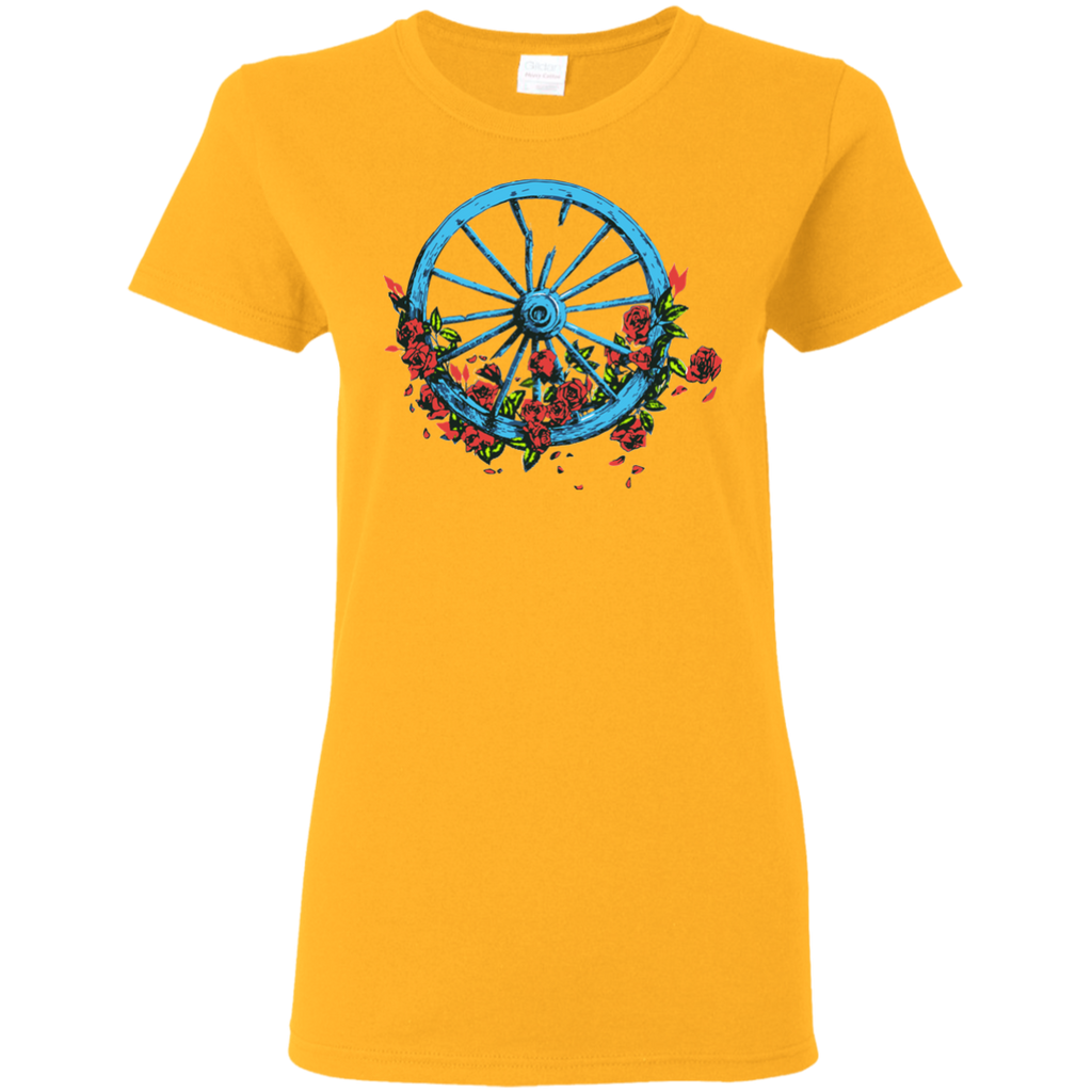 Overstock of Wheel Roses Ladies T-Shirt