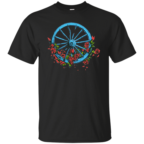 Overstock of Wheel Roses Ultra Cotton T-Shirt Mens Small