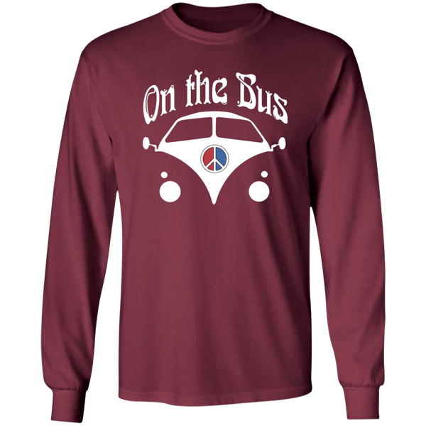 On The Bus Peace Sign Long Sleeve Ultra Cotton T-Shirt