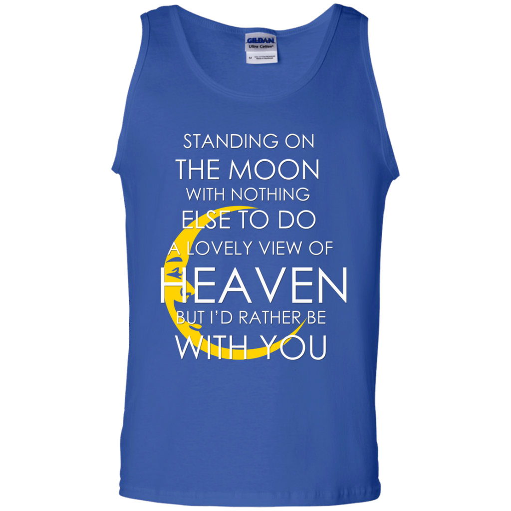 Standing Moon 100% Cotton Tank Top