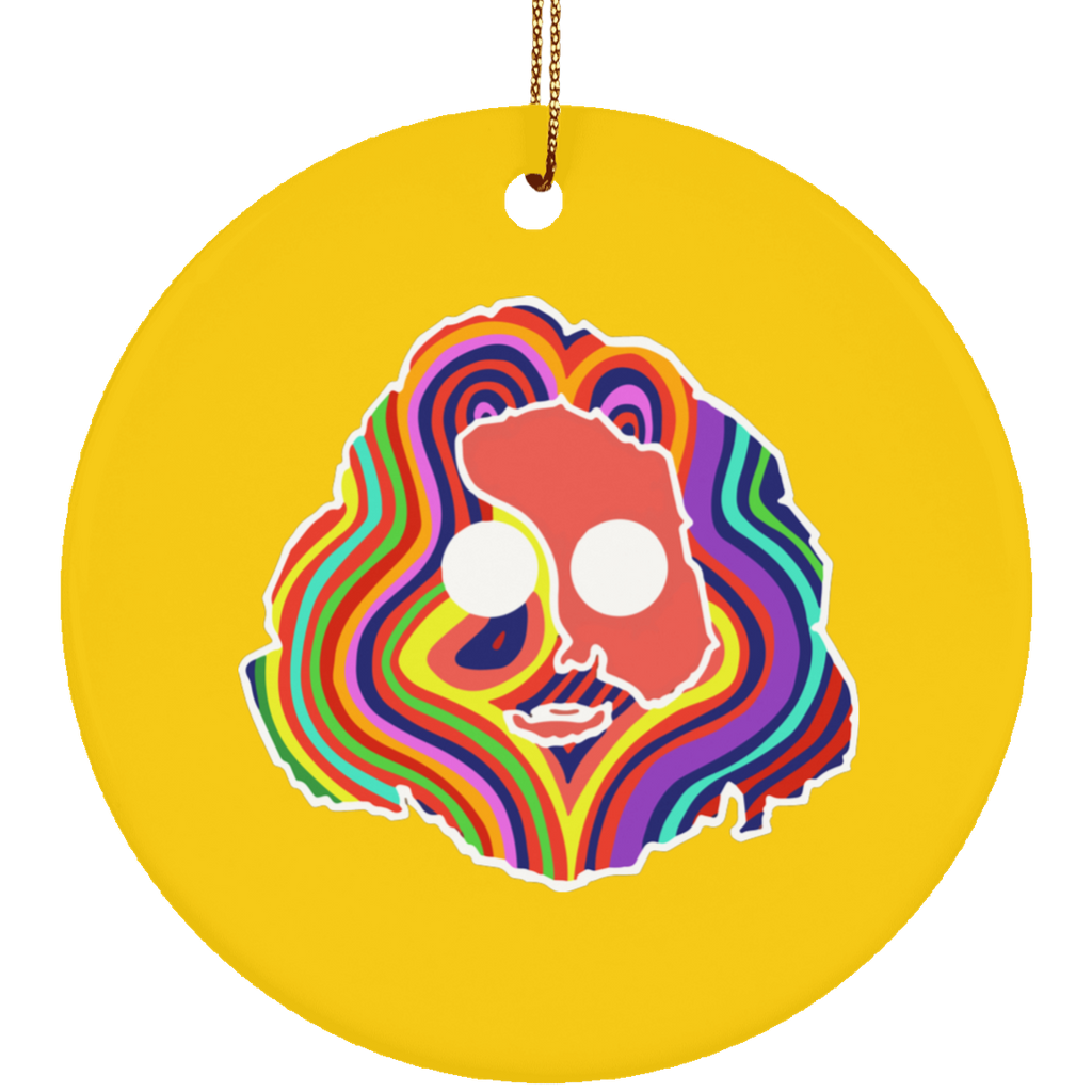Jerry Colorful Circle Tree Ornament