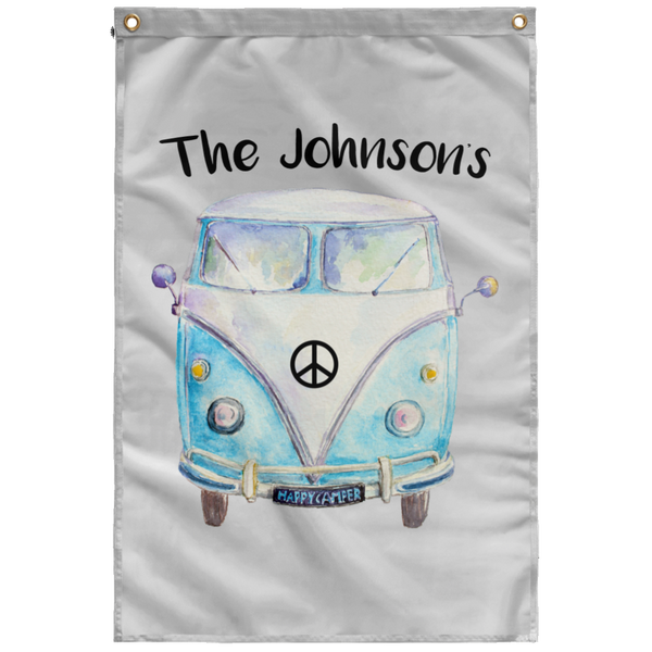 Personalized Family Bus Wall Flag
