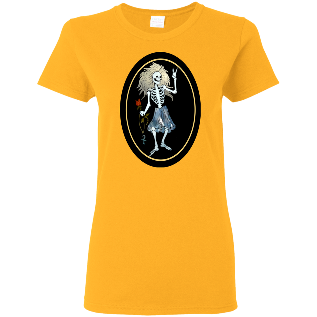 Rosebud Guitar Ladies T-Shirt