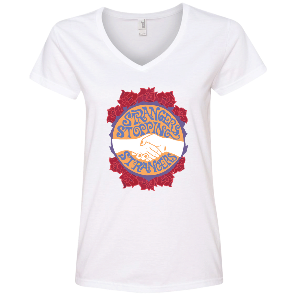 Stranger Stopping Ladies' V-Neck T-Shirt
