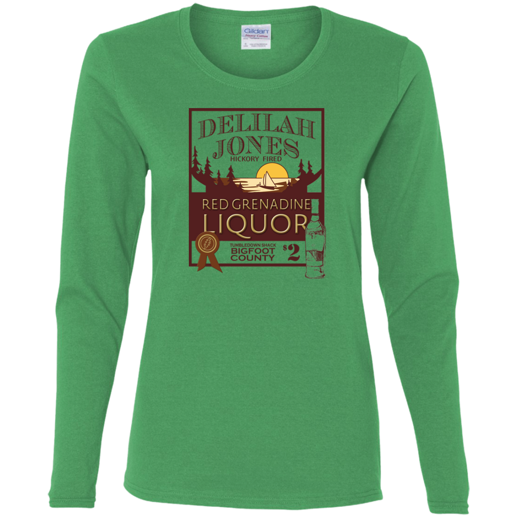 Delilah Jones Ladies' Cotton Long Sleeves T-Shirt