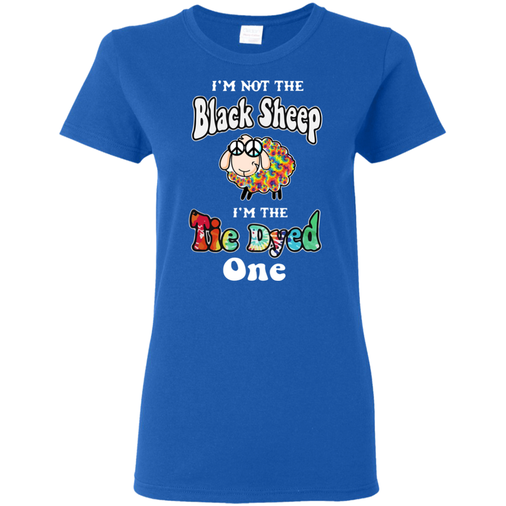 Tie Dyed Sheep Ladies T-Shirt
