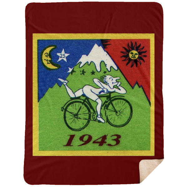 1943 Hoffman Bicycle Large Premium Sherpa Blanket