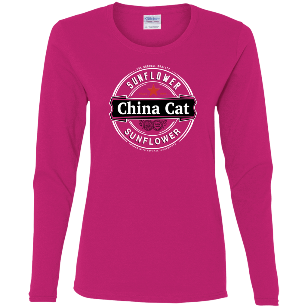 China Cat Heiny Ladies' Cotton Long Sleeve T-Shirt