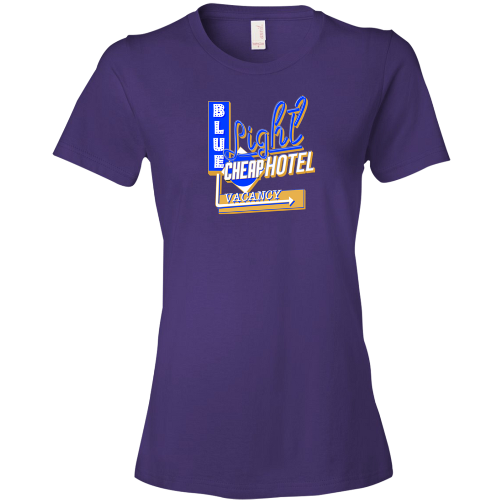 Blue Light Cheap Hotel Ladies Premium T-Shirt