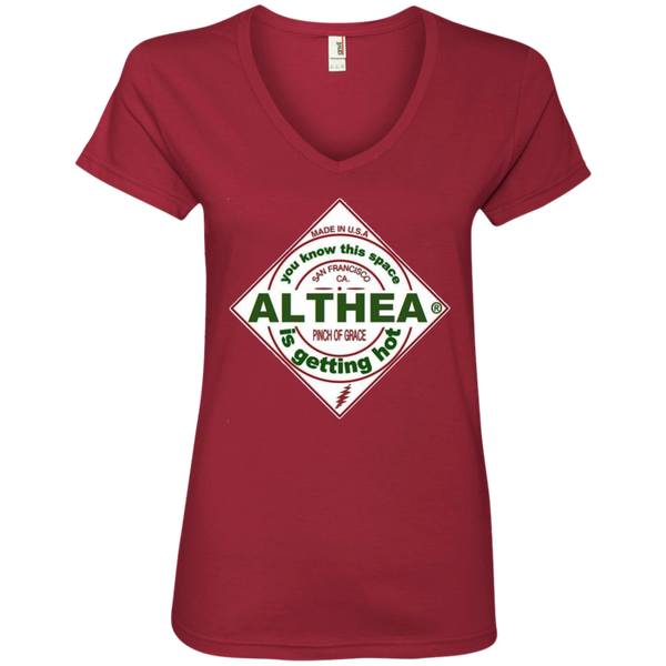 Althea Hot Sauce Ladies' V-Neck Tee Shirt