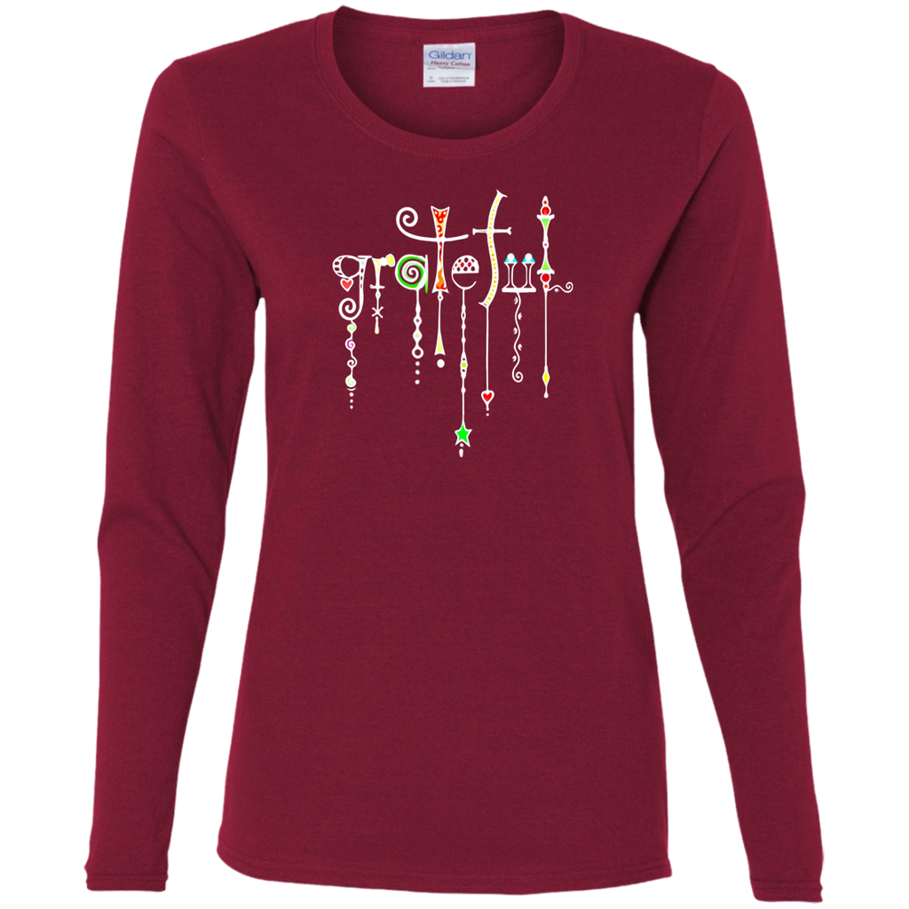 Grateful Jewels Ladies' Cotton LS T-Shirt