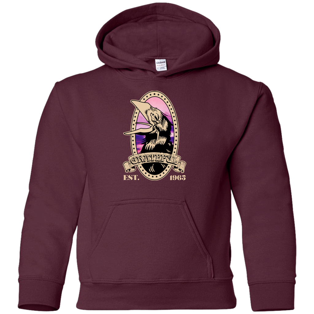 Grateful Crow 1965  Youth Pullover Hoodie