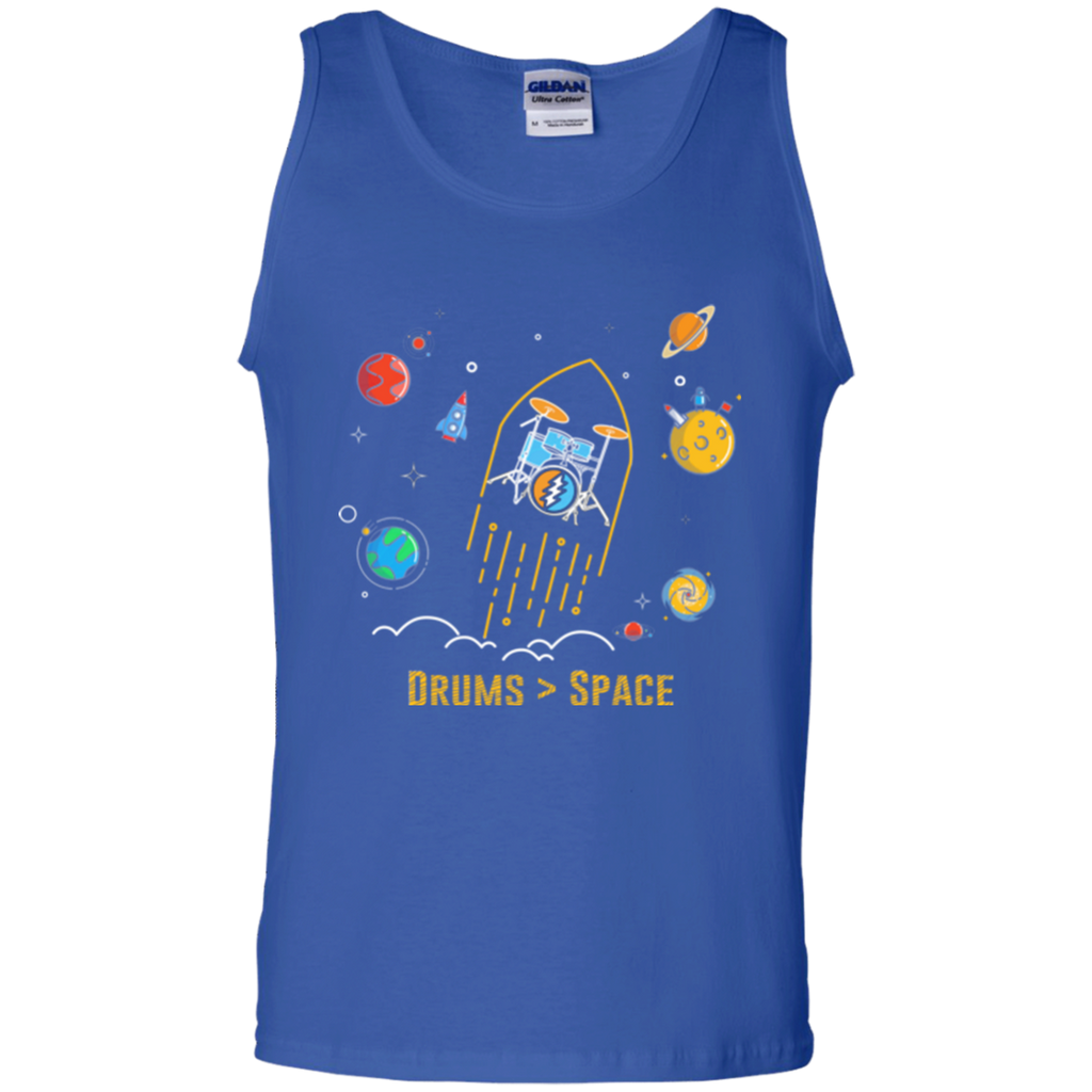 Drums Space Cotton Tank Top