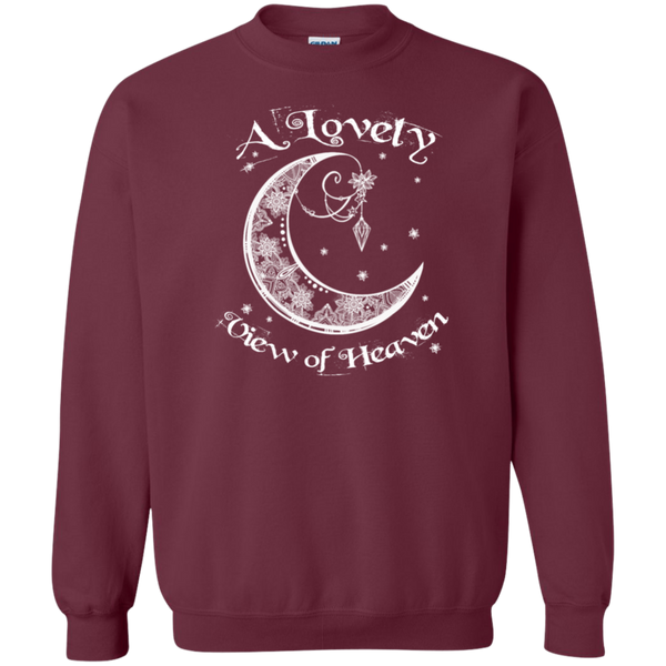 Lovely View Of Heaven Pullover Sweatshirt  8 oz.