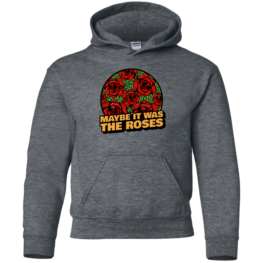 Maybe Roses Circle Youth Pullover Hoodie