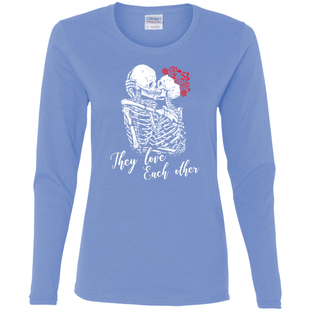 They Love Each Other Ladies Cotton Long Sleeve T-Shirt