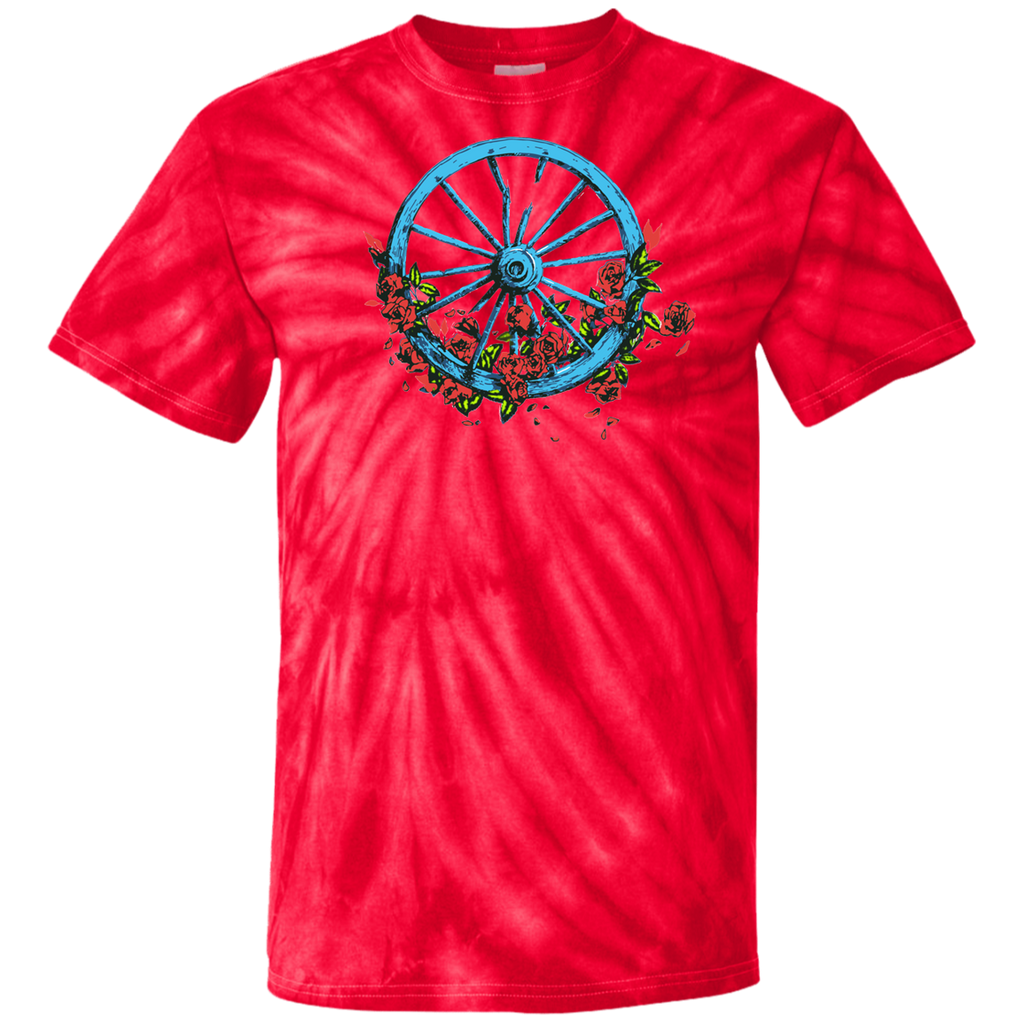 Wheel Roses Tie Dye T-Shirt