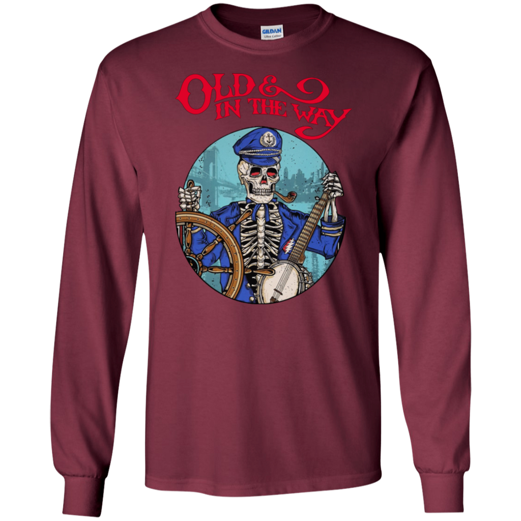 Overstock of Old In The Way Skeleton Long Sleeve Ultra Cotton T-Shirt