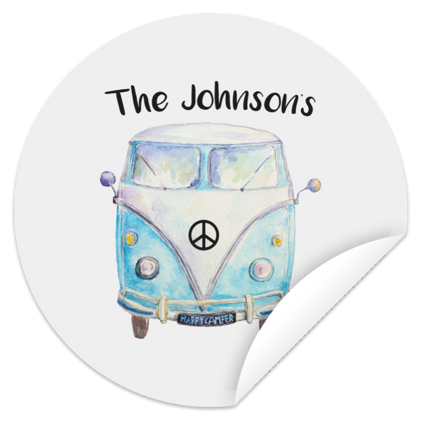 Personalized Family Bus Circle Sticker