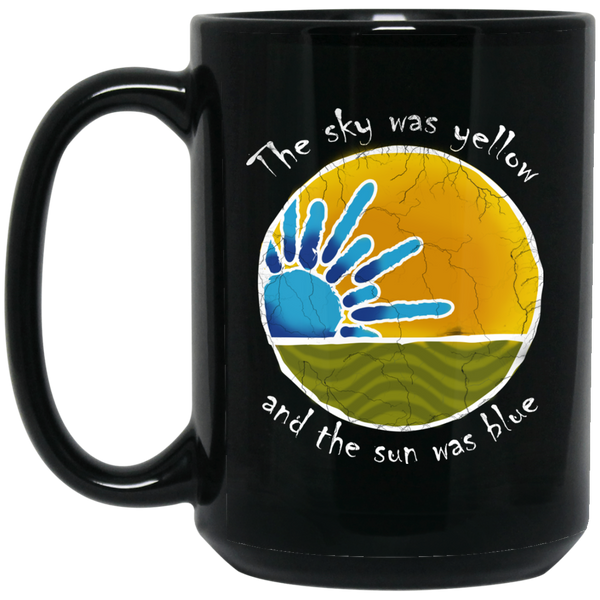Sky Was Yellow 15 oz. Black Mug