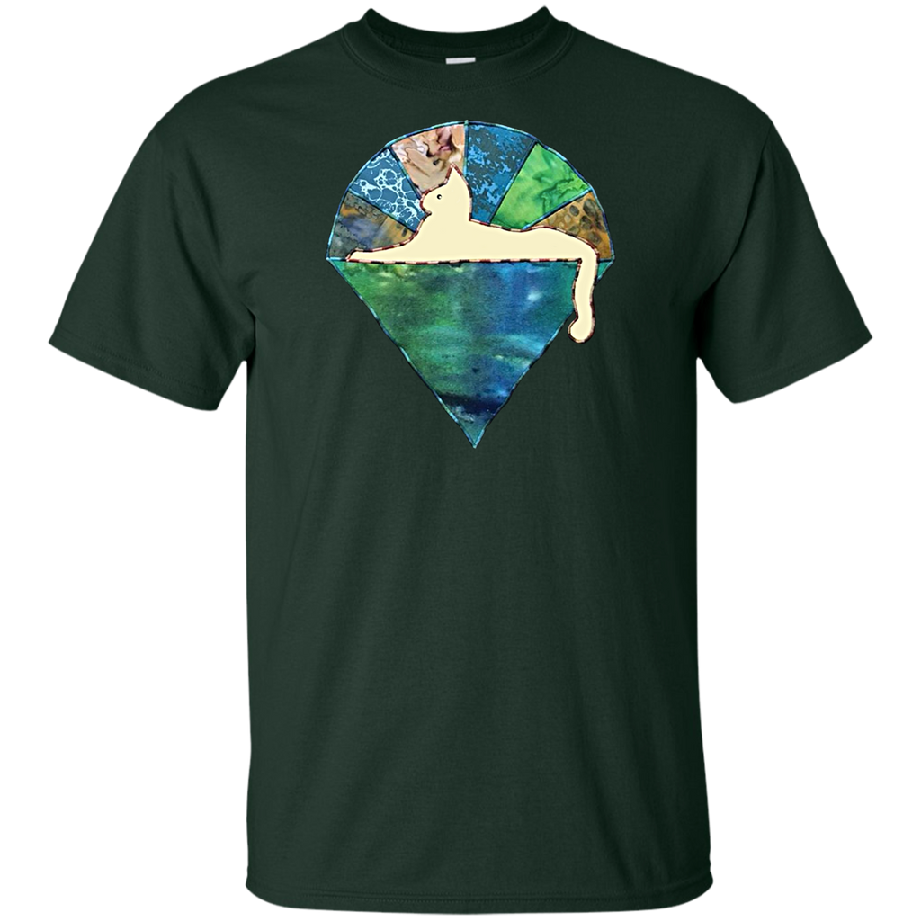 Blue Green Cat Youth Ultra Cotton T-Shirt