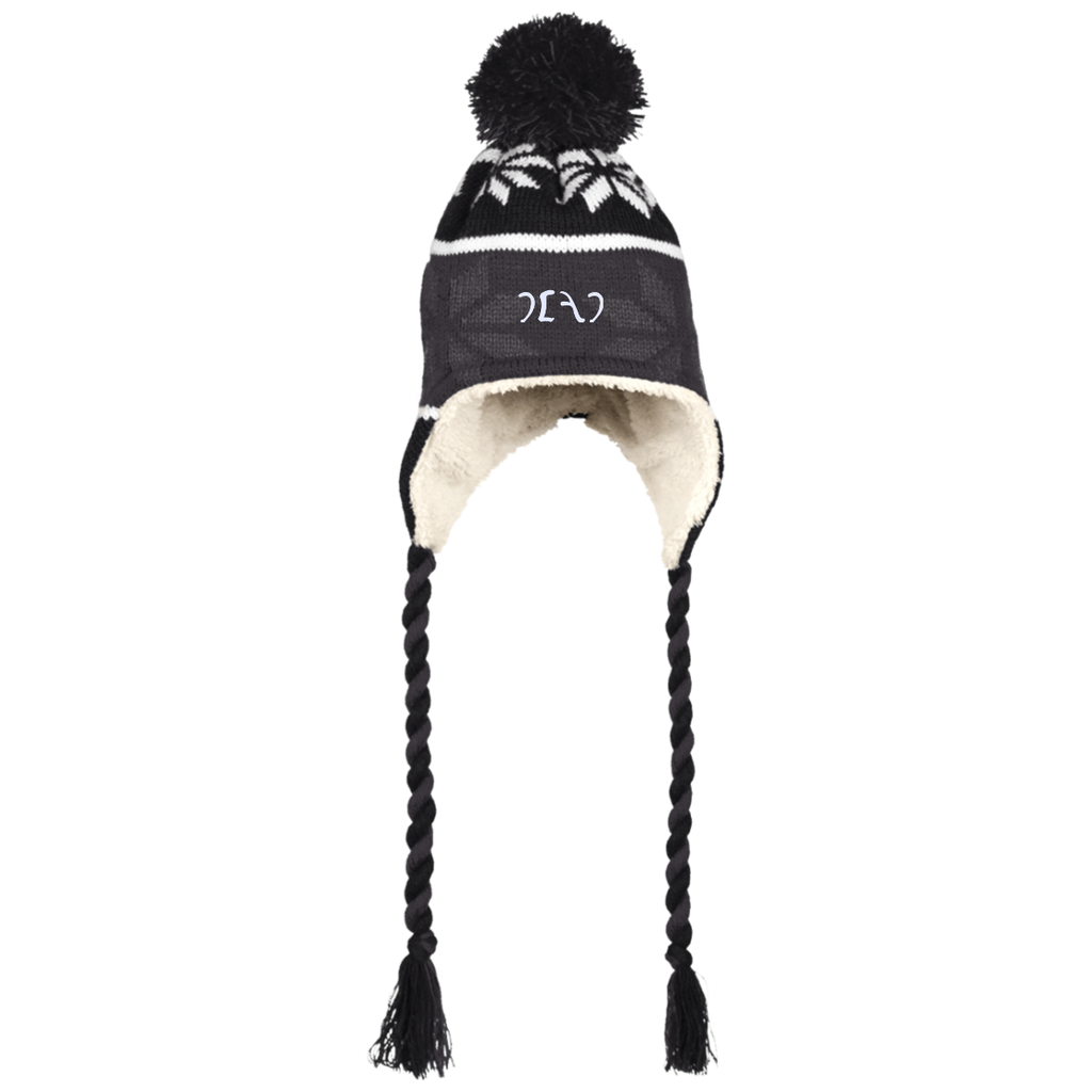 Egypt Dead Sherpa Hat with Ear Flaps and Braids