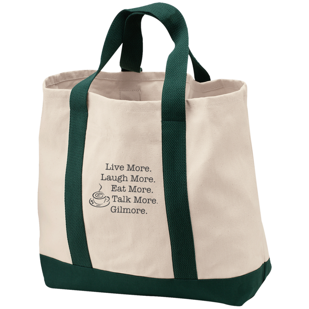 Love More Gilmore Girls Embroidered 2-Tone Shopping Tote