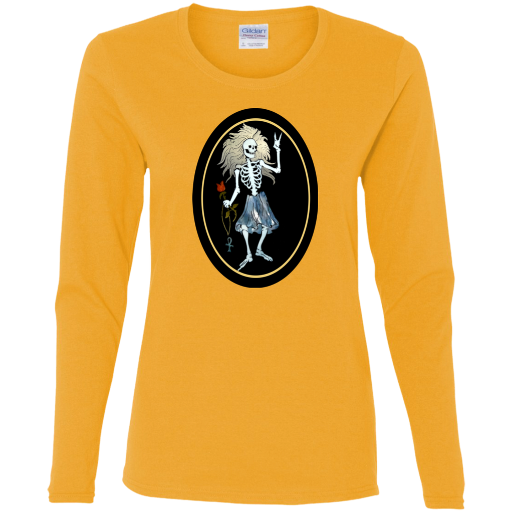 Rosebud Guitar Ladies' Cotton Long Sleeve T-Shirt