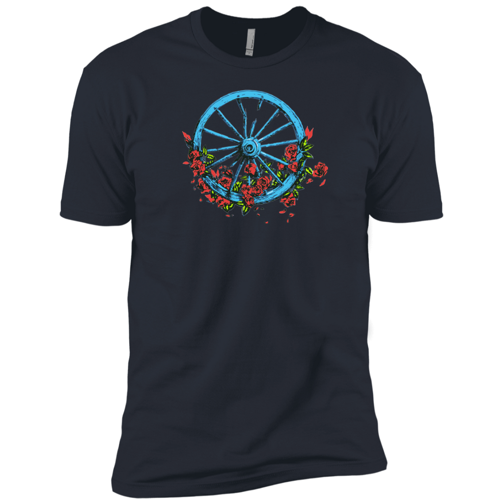 Wheel Roses Premium Cotton T-Shirt