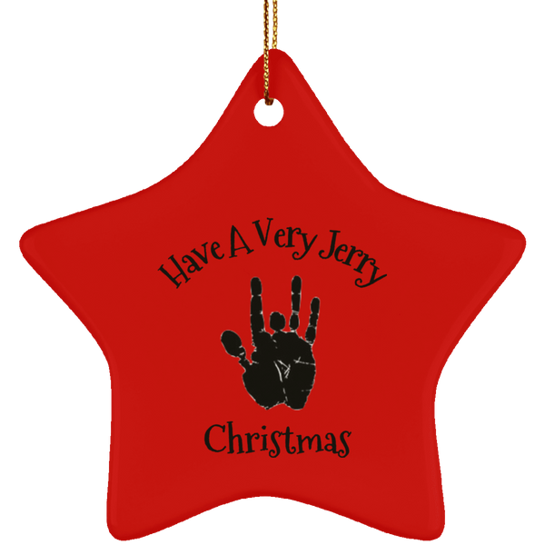 Have A Very Jerry Christmas Tree Ornament Ceramic Star