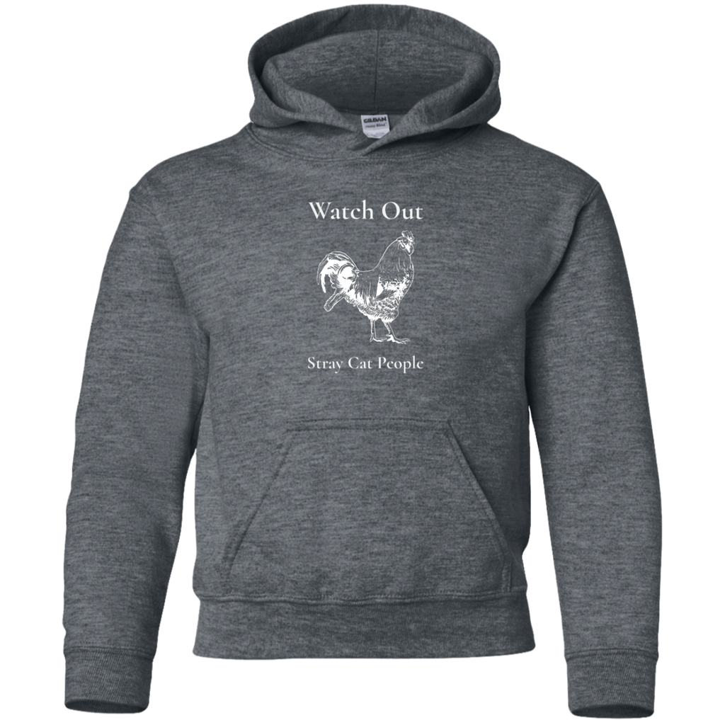 Watch Out Stray Cat Youth Pullover Hoodie