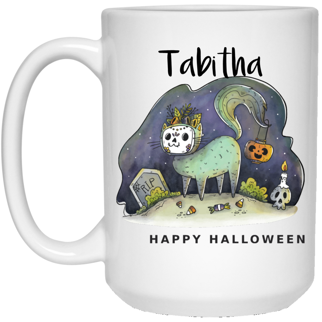 Personalized for your Cat Halloween 15 oz. Coffee Mug