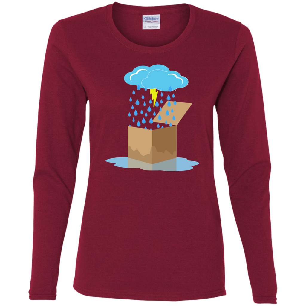 Rain Box Ladies Cotton Long Sleeve T-Shirt