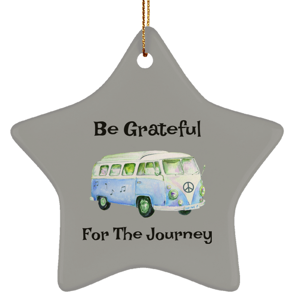 Be Grateful For The Journey Hippie Bus Christmas Tree Ornament Star